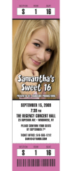 sweet 16 photo ticket invitation