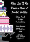 personalized birthday cake invitation