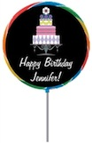 personalized birthday cake lollipop