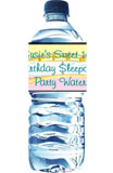 Personalized Sweet 16 water bottles