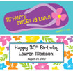 personalized banner for aluau sweet 16 theme party