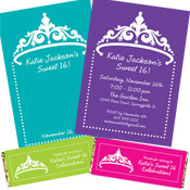 Sweet 16 photo invitation, party favors