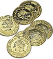 Gold coins for an under the sea party