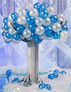 Wintry Balloon Trees