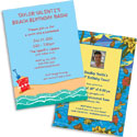 Luau theme invitations