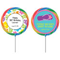 Luau theme lollipops