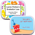 personalized tiki luau mint and candy tins