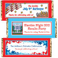 Patriotic theme candy bar wrappers