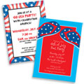 Patriotic theme invitations