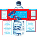 Patriotic theme water labels