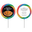 Basketball party theme lollipops