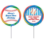Baseball party theme lollipops