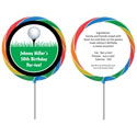 Golf theme lollipops