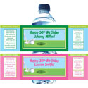Golf theme water bottle labels