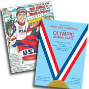 Olympics theme invitations