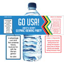 Olympics theme water labels