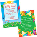 Spring theme invitations
