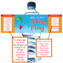 Spring theme water bottle labels