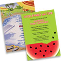 Summer theme invitations