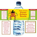 Western theme water labels