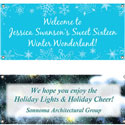 Winter party theme banners