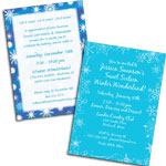 See all winter theme invitations and favors