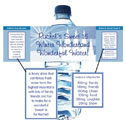 Winter party theme water bottle labels