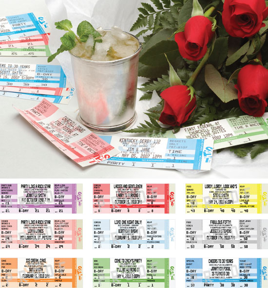 Kentucky Derby Authentic Ticket Invitation / Invite everyone to the race with this ticket invitation