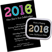 personalized new year's invitation