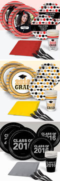graduation party supplies. graduation party paper goods