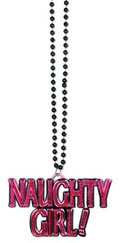 Pink naughty girl necklaces