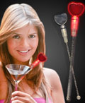 LED Red Heart Shaped Cocktail Stirrer