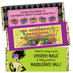 Mardi Gras candy bar wrappers