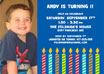 Baby boy candles invitations and favors