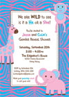 Baby shower invitations and favors