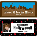 Bar Mitzvah and Bat Mitzvah party banners