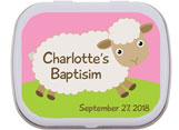 Baptism mint and candy tin favors