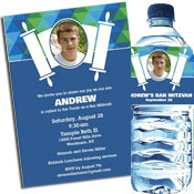 Bar Mitzvah Bright Torah Theme Invitations and Favors