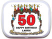 Birthday party mint tins