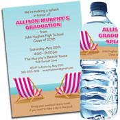 Beach Bash invitations and favors