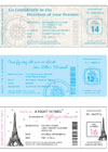 Boarding pass theme party invitations