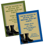 Military Boot Camp Invitations and Favors