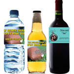 Personalized water, beer and wine bottle labels