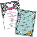 Personalized bridal shower invitations, decorations and party supplies