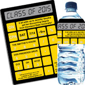 Graduation calculator theme invitations and favors