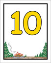 Camp Theme Table Numbers
