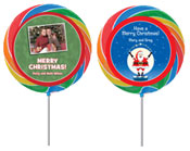 Christmas theme personalized lollipops