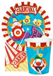 circus carnival theme paper goods