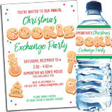 Christmas cookie baking party invitation and favors