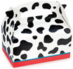 Cow print favor box